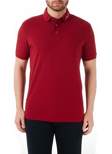 Emporio Armani  Pamuklu Düğmeli Polo T Shirt Erkek Polo 3K1Fa6 1Jptz 0370 Kırmızı